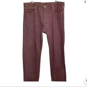 Levis 501 Straight Leg Mens Button Fly Jeans 40X30